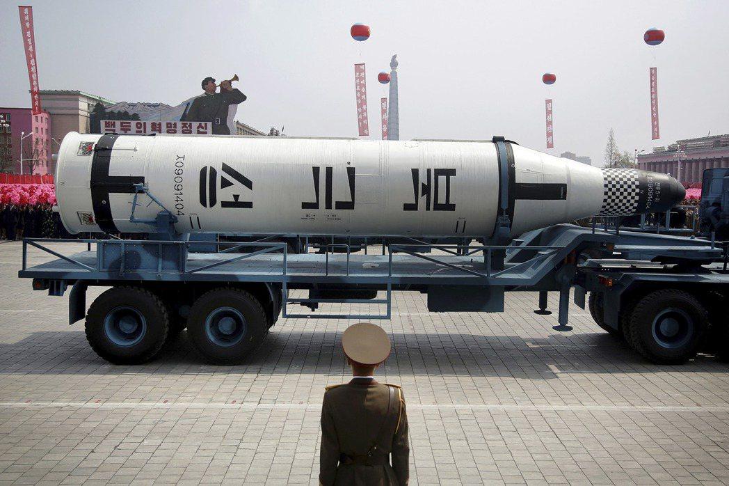 朝鮮在過去幾個月至少試射五次不同型導彈,均為本年太陽節閱兵時所展示,顯見並非虛張...