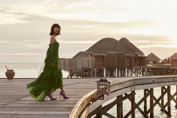 部落客Liz Uy在馬爾地夫拍攝年度#Chootravels專題。圖/Jimmy...