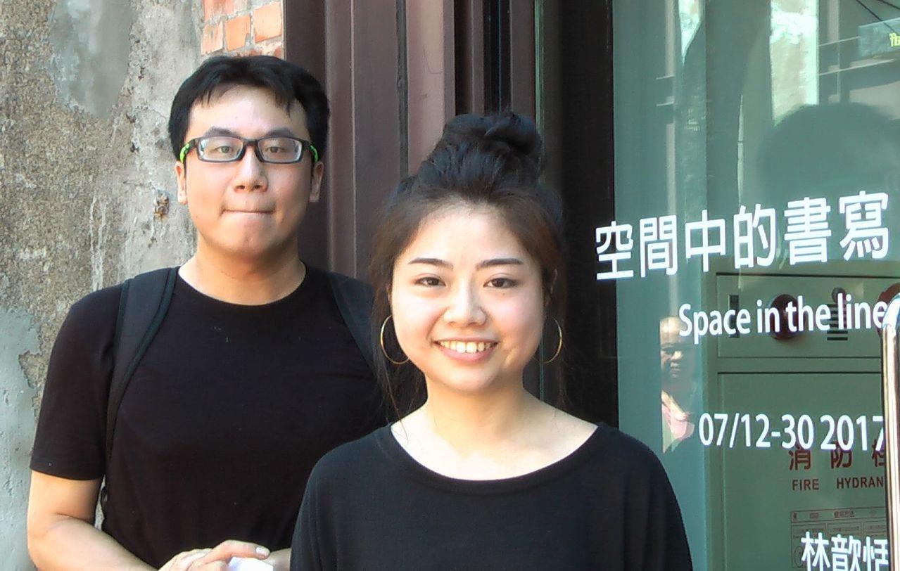駁二藝術特區推出「漾藝廊」計畫,首檔由藝術家林歆恬(右)與徐祖寬(左)打頭陣。 ...