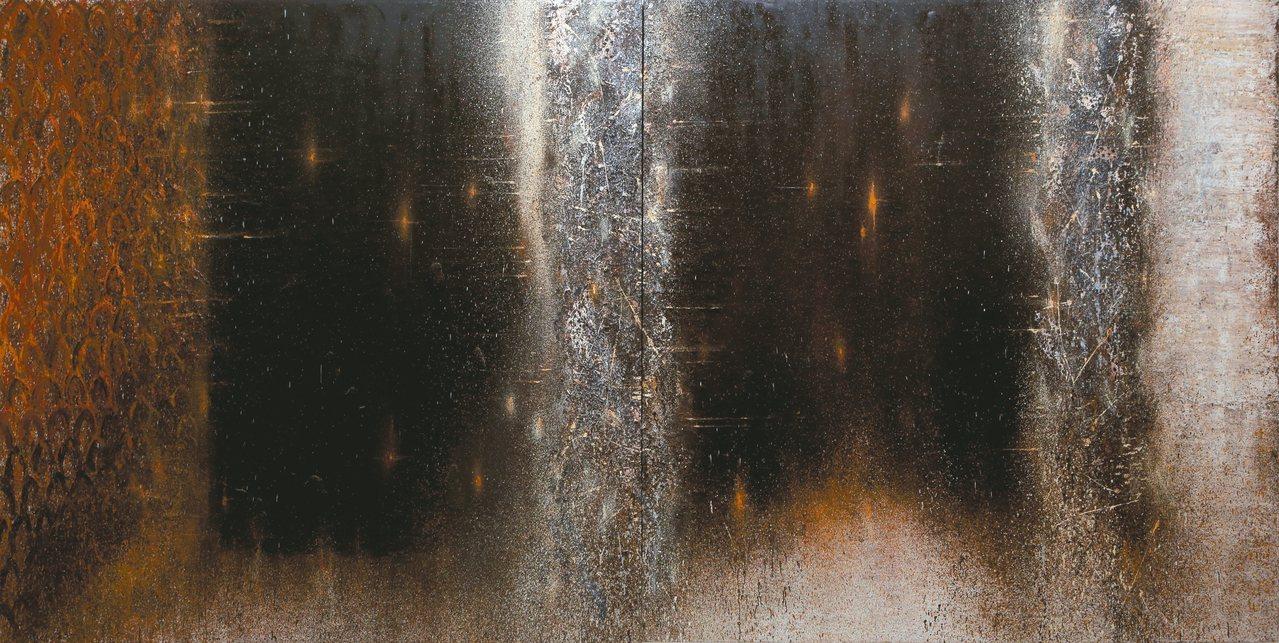 江賢二作品「百年廟」。 圖/小美術館提供
