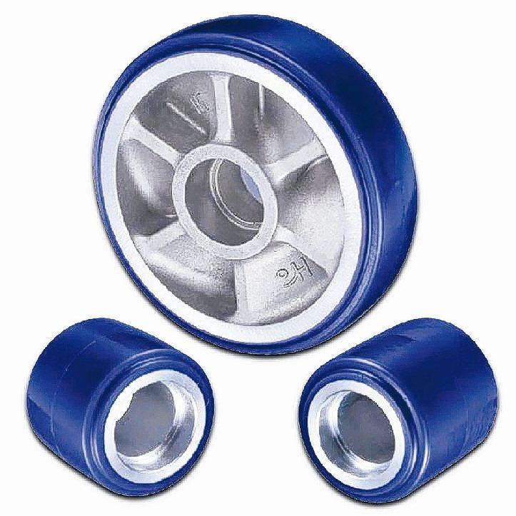 HO CASTER品牌鋁框包PU前後管輪打入高階拖板車市場。 和輪公司/提供