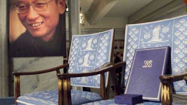 路透社報導,諾貝爾和平獎委員會主席今天表示,得知中國民主運動象徵性人物、諾貝爾和...
