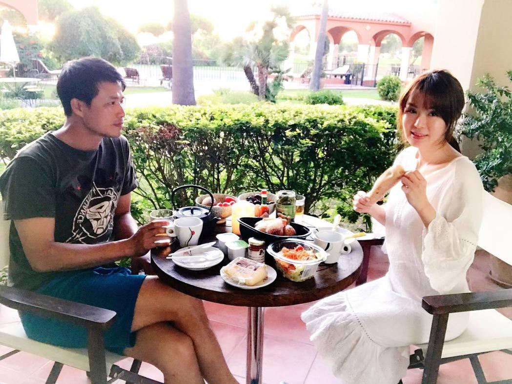 Ivy與陳國華到南法二度蜜月。 圖/擷自Ivy與國華的生活分享臉書