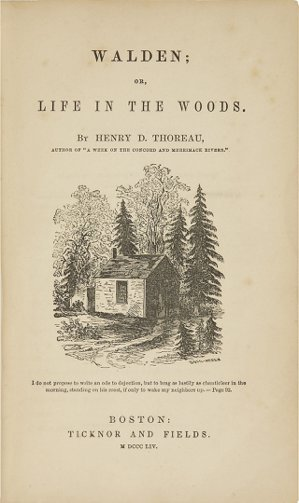 《湖濱散記》(Walden; or, Life in the Woods)書影。