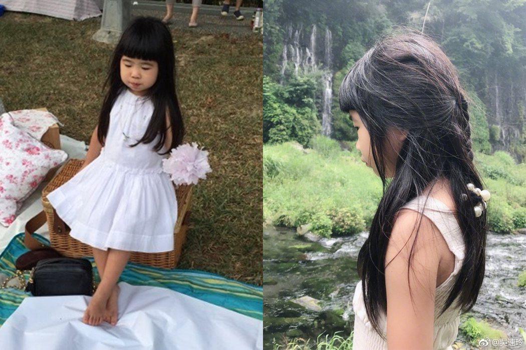 左圖為包子姐姐2014年(3歲)時的模樣,右邊則是2017年(6歲)時的模樣。