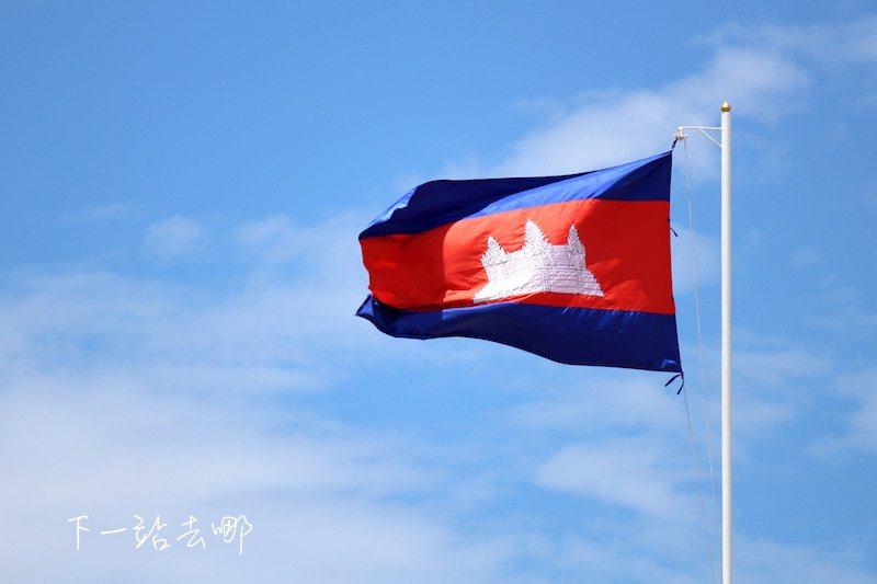 柬埔寨國旗。 攝影/賴勳毅