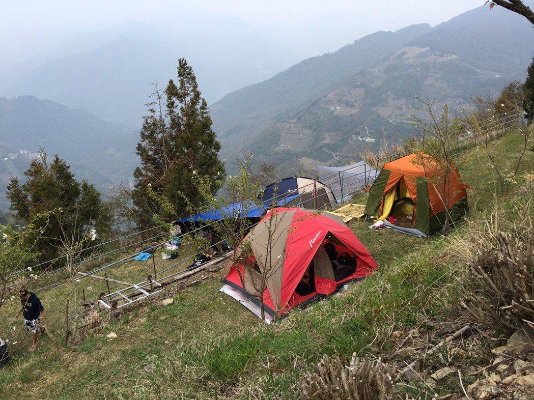近年來露營已成風潮,但許多露營場地。圖/市議員楊朝為提供
