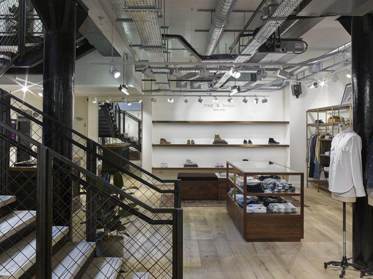 清爽而有個性的rag & bone倫敦旗艦店讓人流連忘返。圖/rag & bon...