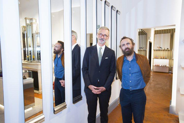 LONGCHAMP執行長Jean Cassegrain和法國裝置藝術家Mathi...
