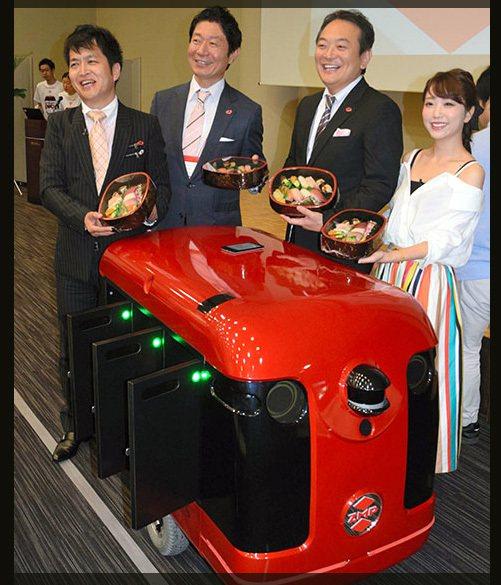 日本機器人公司ZMP本月13日首度公開外送機器人原型「CarriRo」。圖擷自日...