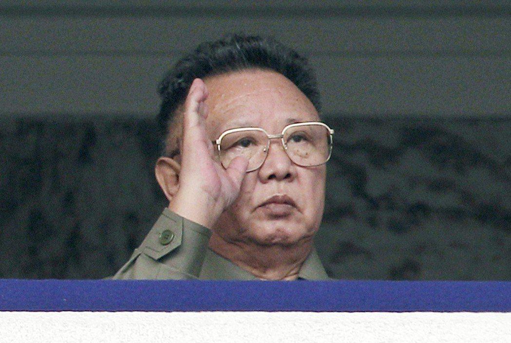 已故北韓領導人金正日。 (美聯社)