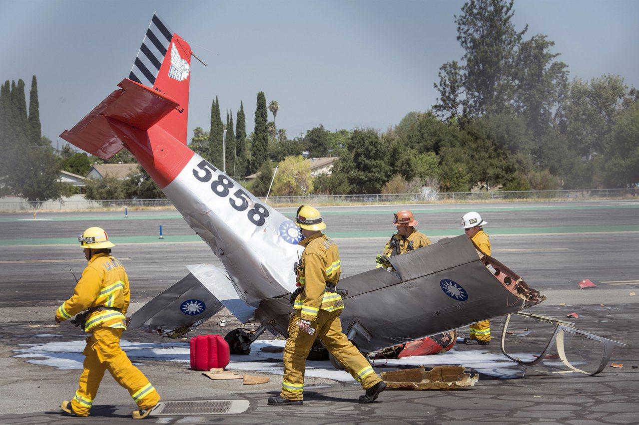 一架單引擎飛機在加州聖蓋博谷機場起飛不久後,就墜落在機場南邊,機上飛行員當場遇難...