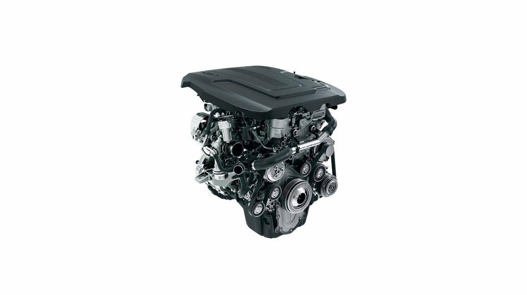 Jaguar E-Pace使用的汽油引擎。圖/Jaguar提供
