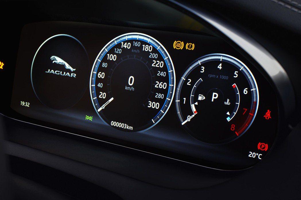 12.3吋數位儀表板。圖/Jaguar提供