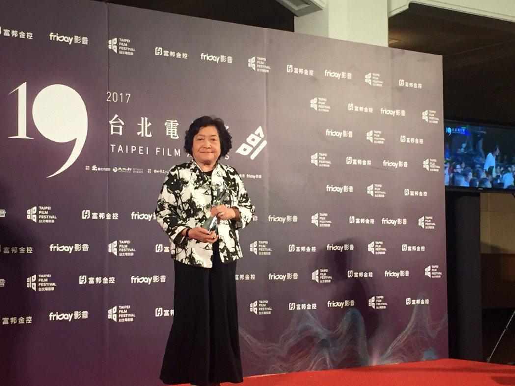 劉引商以「順雲」拿下第19屆台北電影獎最佳女配角。記者陳建嘉攝影