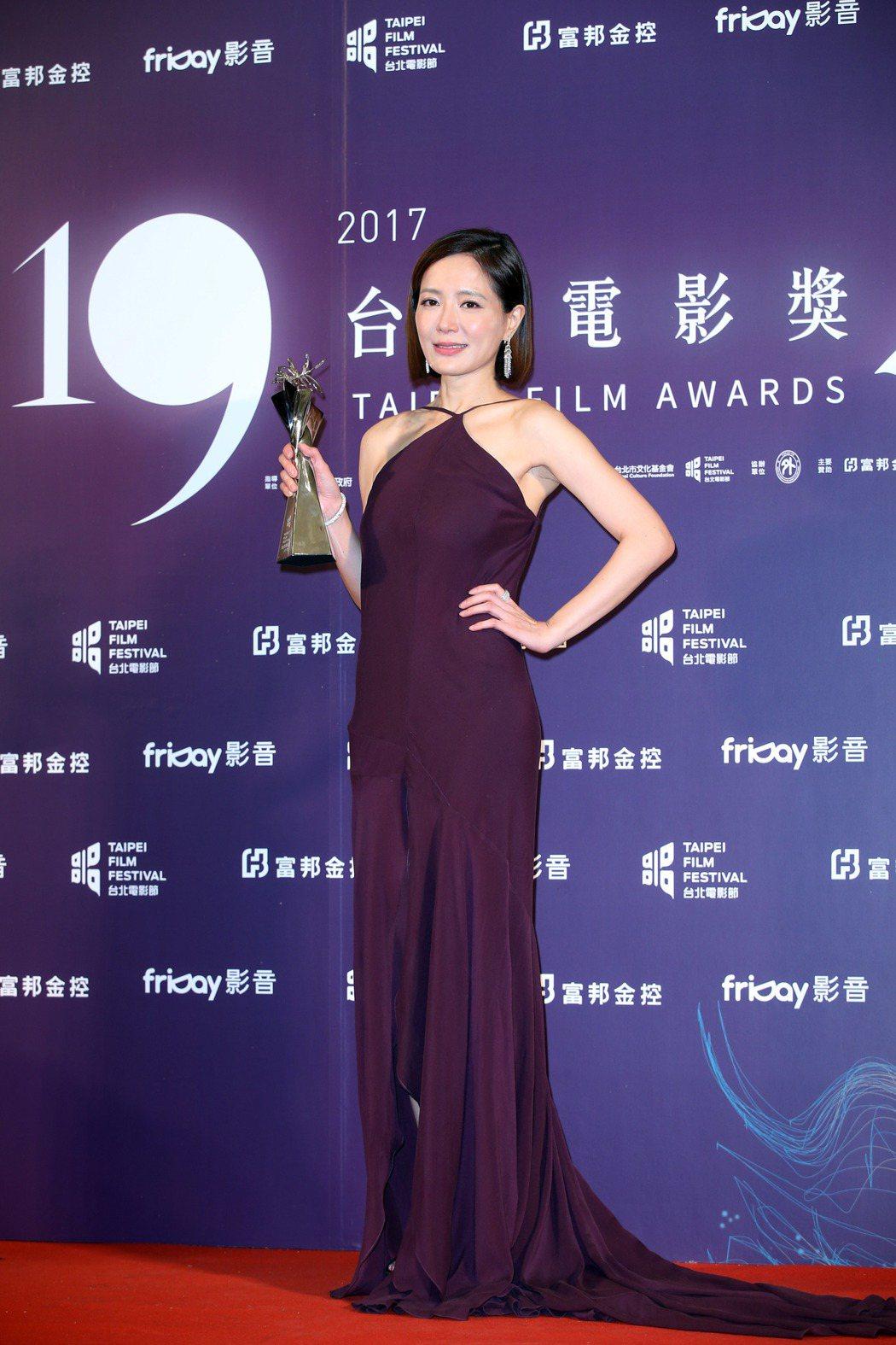 尹馨獲台北電影獎最佳女主角。記者陳瑞源/攝影
