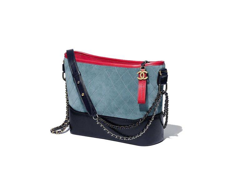 Gabrielle de Chanel麂皮雙色包款,119,700元。圖/香奈兒...