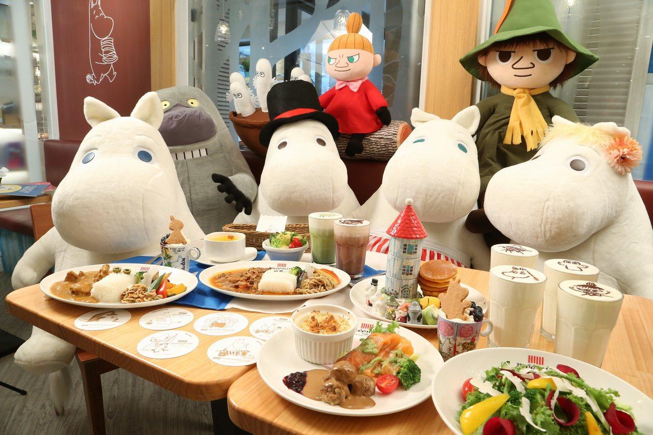 Moomin Cafe嚕嚕米主題餐廳。聯合報系記者陳立凱/攝影