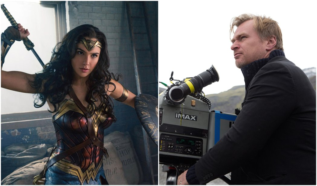 知名導演克里斯多夫諾蘭(右)表示自己狂愛「神力女超人」。圖/華納兄弟提供