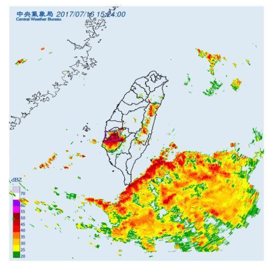 中央氣象局發布大雷雨即時訊息。圖/翻攝自氣象局網站