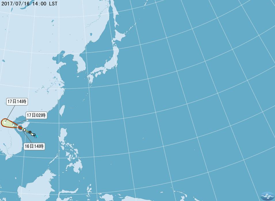 輕颱塔拉斯預計明天清晨登陸越南。圖/氣象局提供