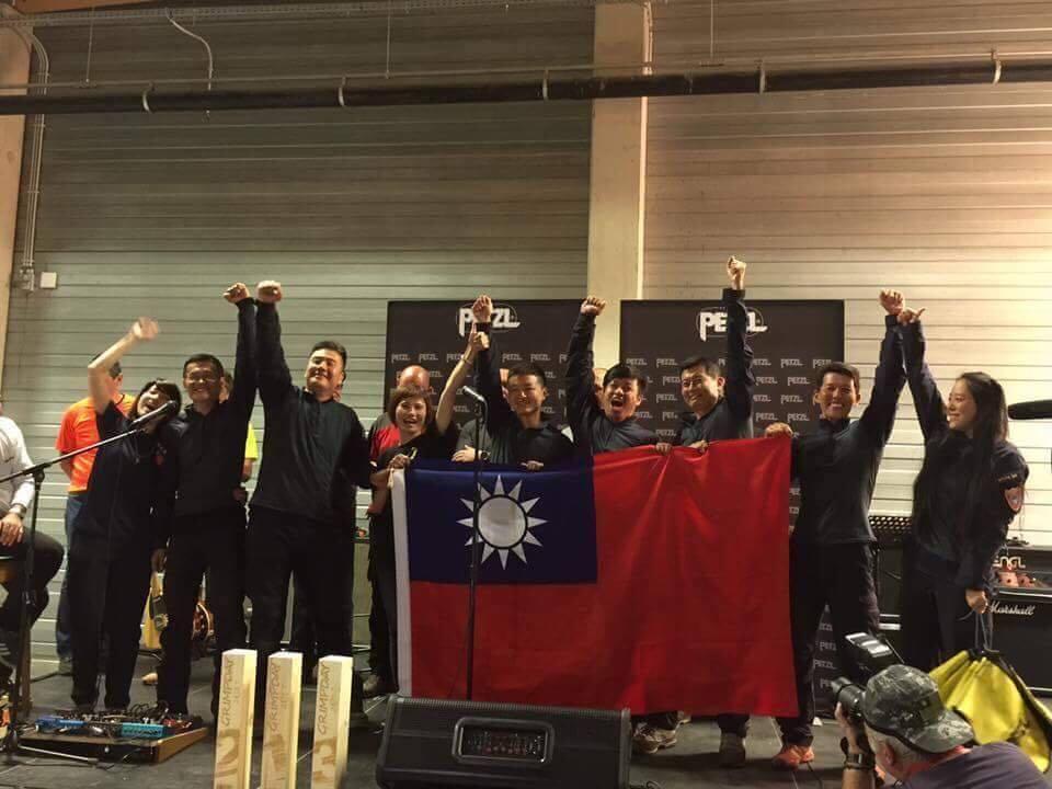 連續第3年自費、自假參加GRIMPDAY 國際繩索救援競賽的台灣台南隊,奪得亞洲...
