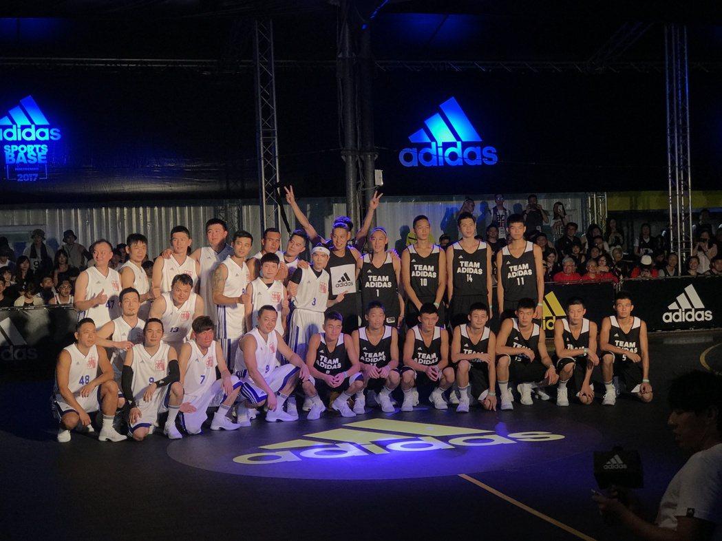 林書豪與蕭敬騰今晚上演籃球對決。記者毛琬婷/攝影