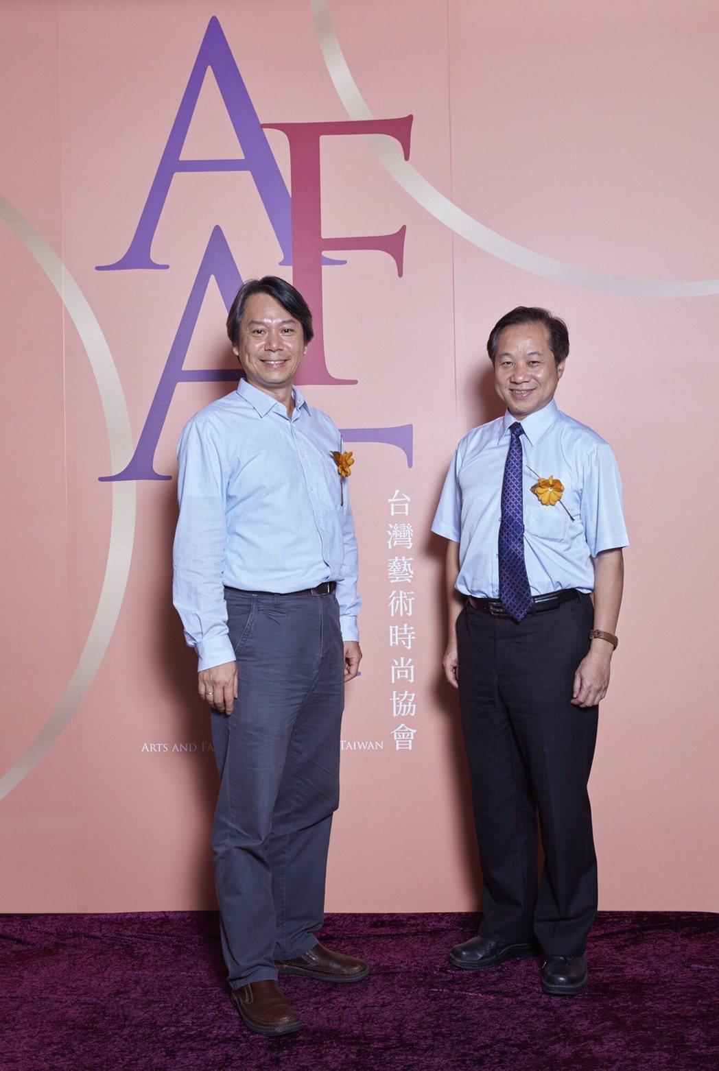 台師大校長張國恩《台灣藝術時尚協會》榮譽理事長(右),台師大GF-EMBA執行長...