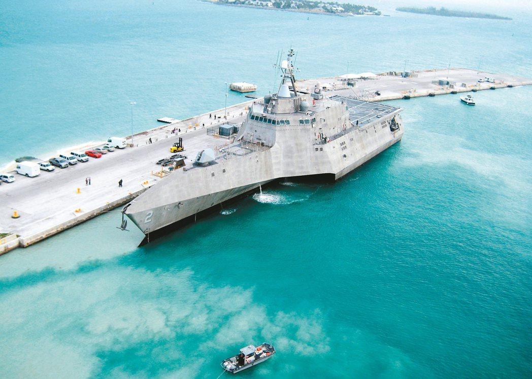 美軍多功能濱海戰鬥船艦獨立級獨立號(LCS-2)。 圖/美國海軍官方網站