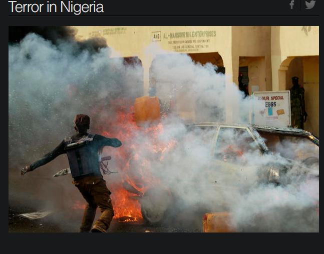1名女性自殺炸彈客今天在奈及利亞東北部1所清真寺引爆身上的炸藥,造成8人喪生。圖...