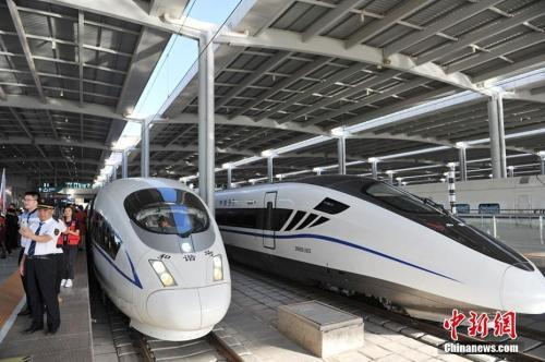 圖為中國高鐵。圖/中新社。
