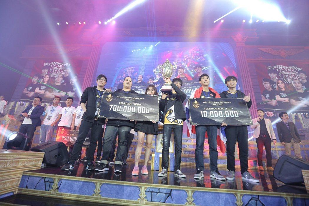 泰國代表隊「MB」勇奪首屆《傳說對決》TOG 東南亞區域賽總冠軍。 圖/Gare...