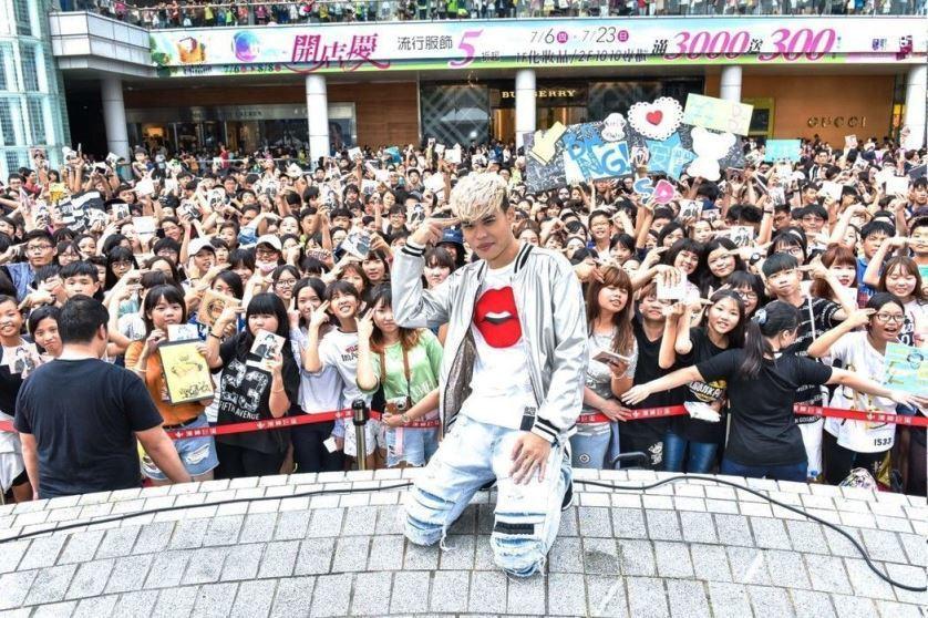 聖結石首張EP高雄粉絲見面會。圖/WebTVAsia x 上行娛樂