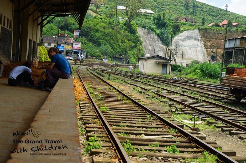 四歲Hank拍攝的高山火車站。攝影:吳昊翰/Hank Wu