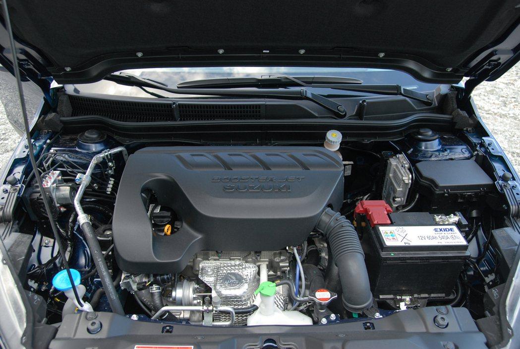 Suzuki New SX4 換上與 Vitara 同一具的 1.4 升 BoosterJet 缸內直噴渦輪引擎,並搭配同款 6 速手自排變速箱(附換檔撥片),馬力數據為 140 匹/5,500rpm、22.4 公斤米/1,500-4,000rpm。 記者林鼎智/攝影