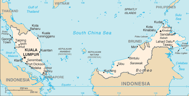 馬來西亞是海上絲綢之路的重要節點。(photo by Wikimedia)