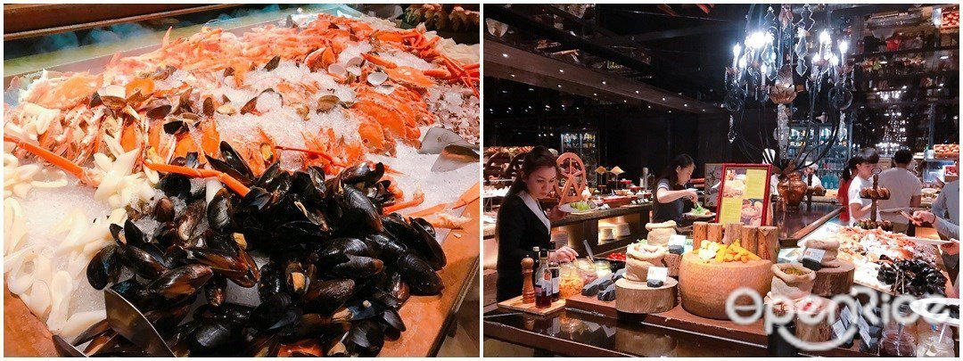▲生蠔吃到飽時段,除了生蠔還有Buffet台多種海鮮、甜點等吃到飽。