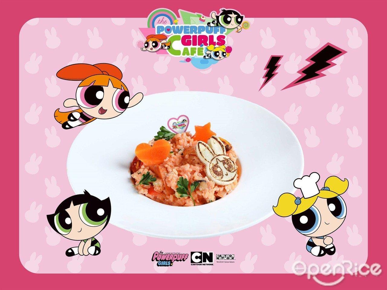 ▲德式臘腸野菇甜菜燉飯。主食類的餐點,使用甜菜根搭配德式臘腸的燉飯,呈現為粉紅色...