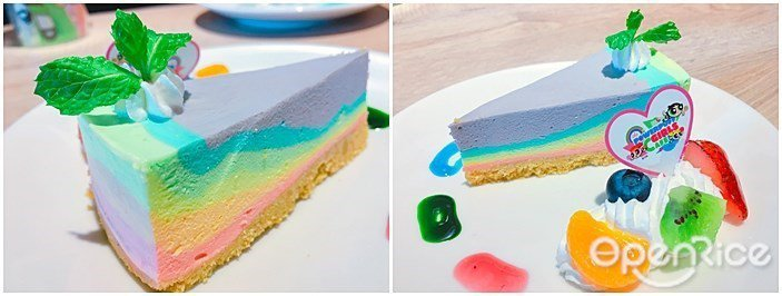 ▲▼(上)彩紅輕乳酪蛋糕、(下)彩虹蛋糕捲