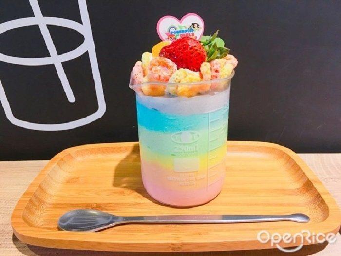 ▲彩虹優格慕斯,多達6層漸層彩虹色澤,絕對勢必點來拍照打卡的網美甜點。