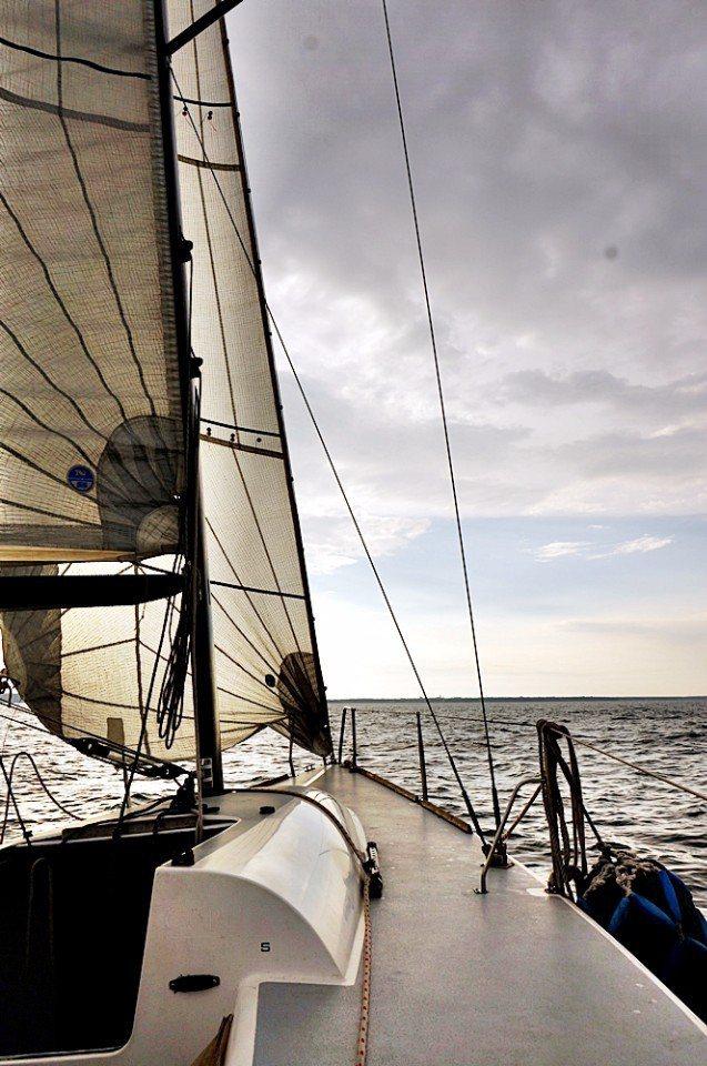 在帆船上行走很安全。(林郁姍/攝)