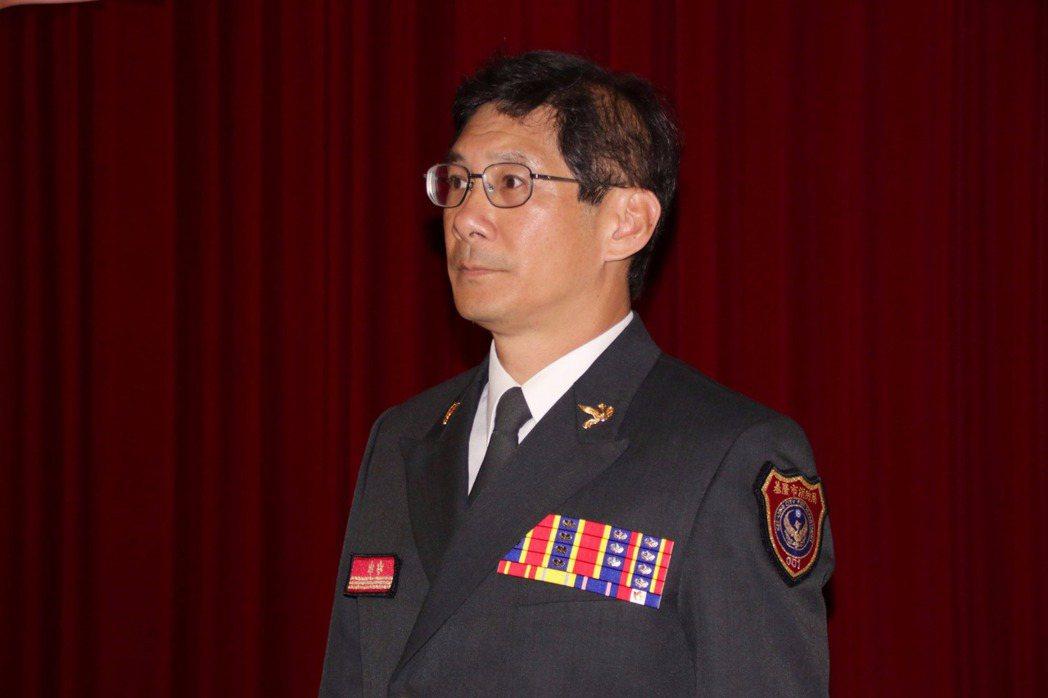 新任基隆是消防局長陳龍輝今天上任。記者曾健祐/攝影