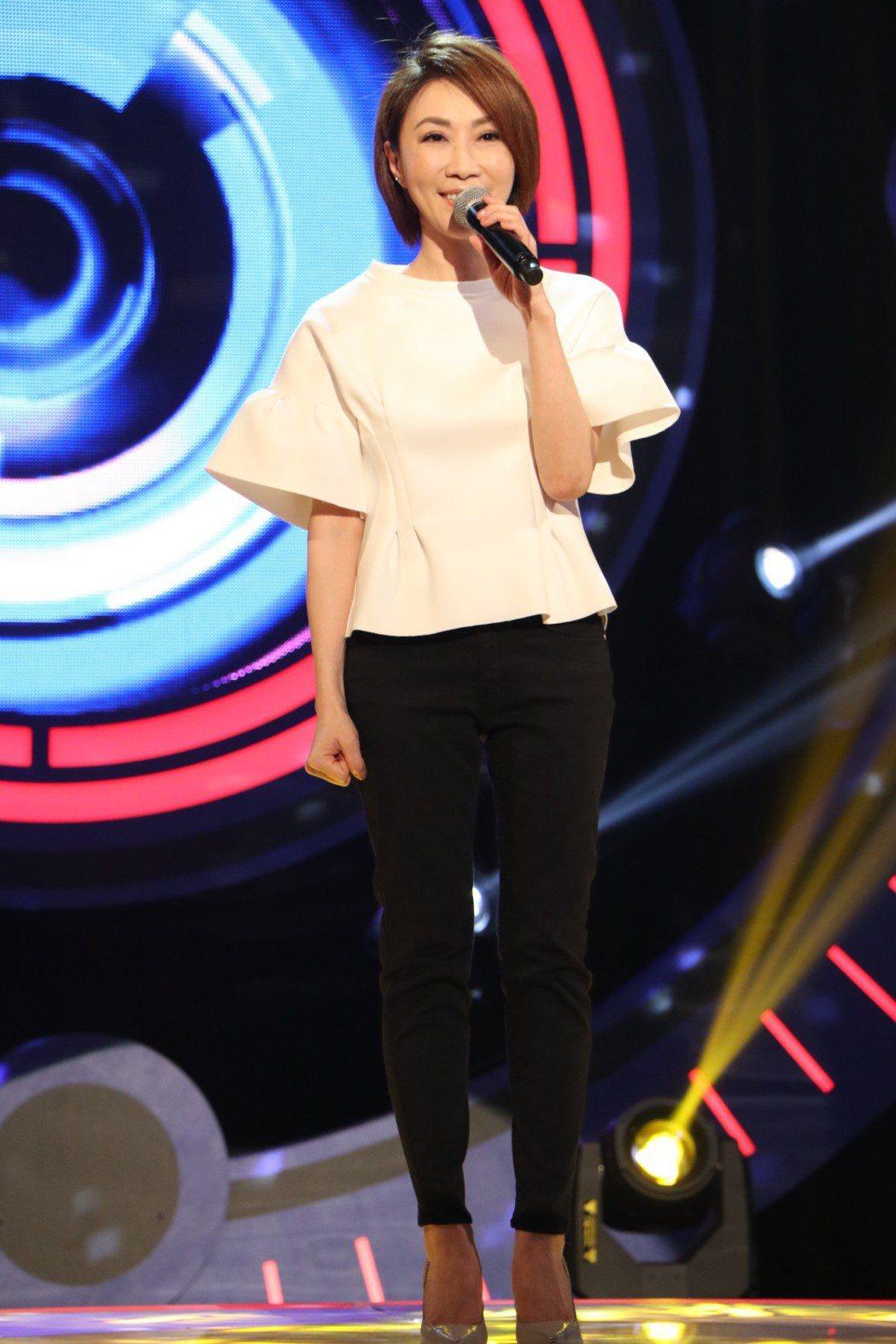 李翊君今錄中視「K歌大明星」。圖/中視提供