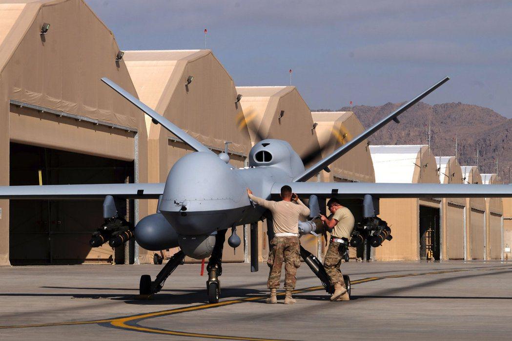 部署在阿富汗美軍基地的「死神」無人機。路透