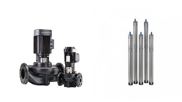 線上循環泵沉水泵。 圖/鈞能提供
