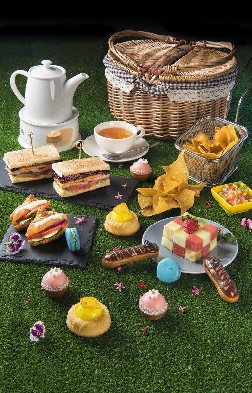 宜蘭力麗威斯汀的雙人野餐下午茶,在美食展現場的優惠價每人僅390元。 業者/提供
