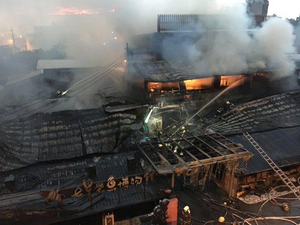 一場大火共造成4大主題展示區全毀於祝融中,目前損失尚難估計。圖/民眾提供