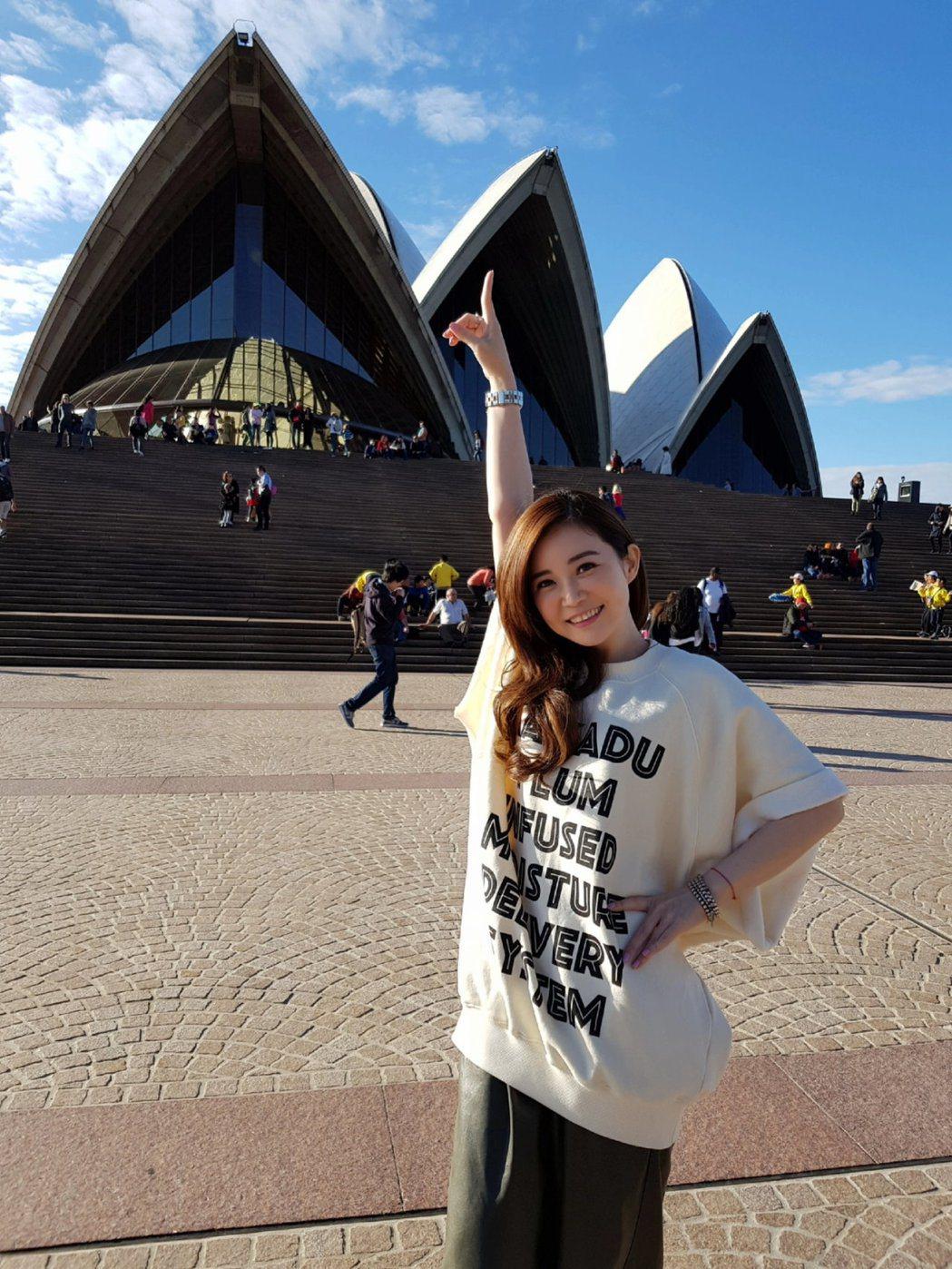 黃思婷在澳洲開唱,順便遊覽。圖/豪記提供