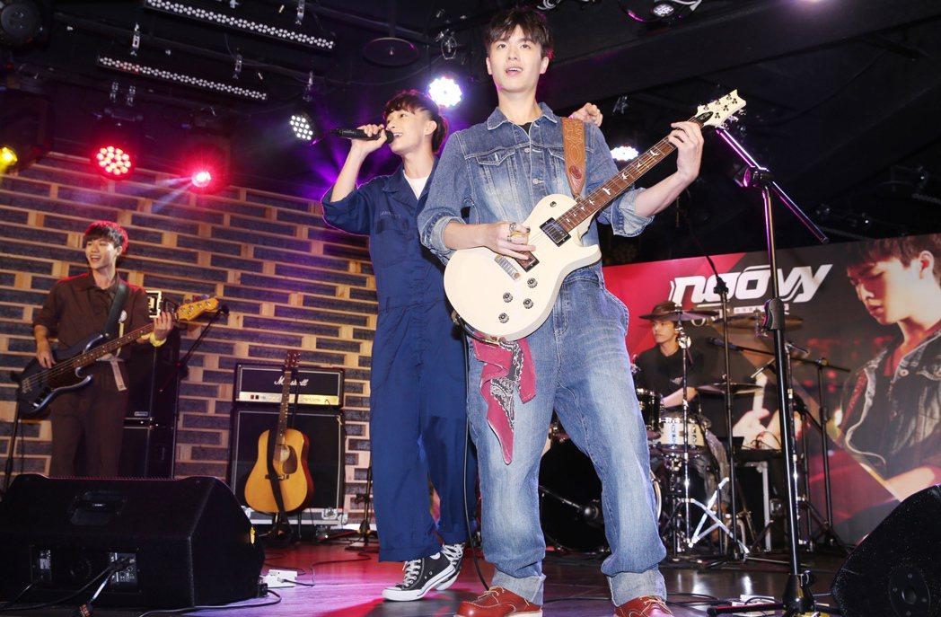 noovy去年底到日本在日本索尼受訓半年並於今年在日本出道。記者徐兆玄/攝影