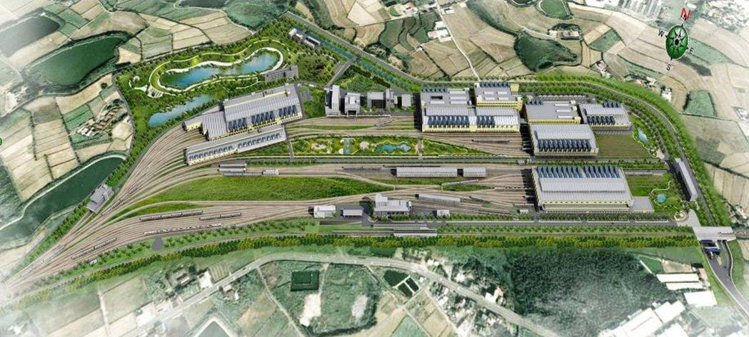 台鐵富岡車輛基地占地52公頃,被鐵道迷稱為「新火車醫院」,且是教學醫院。 圖/台...
